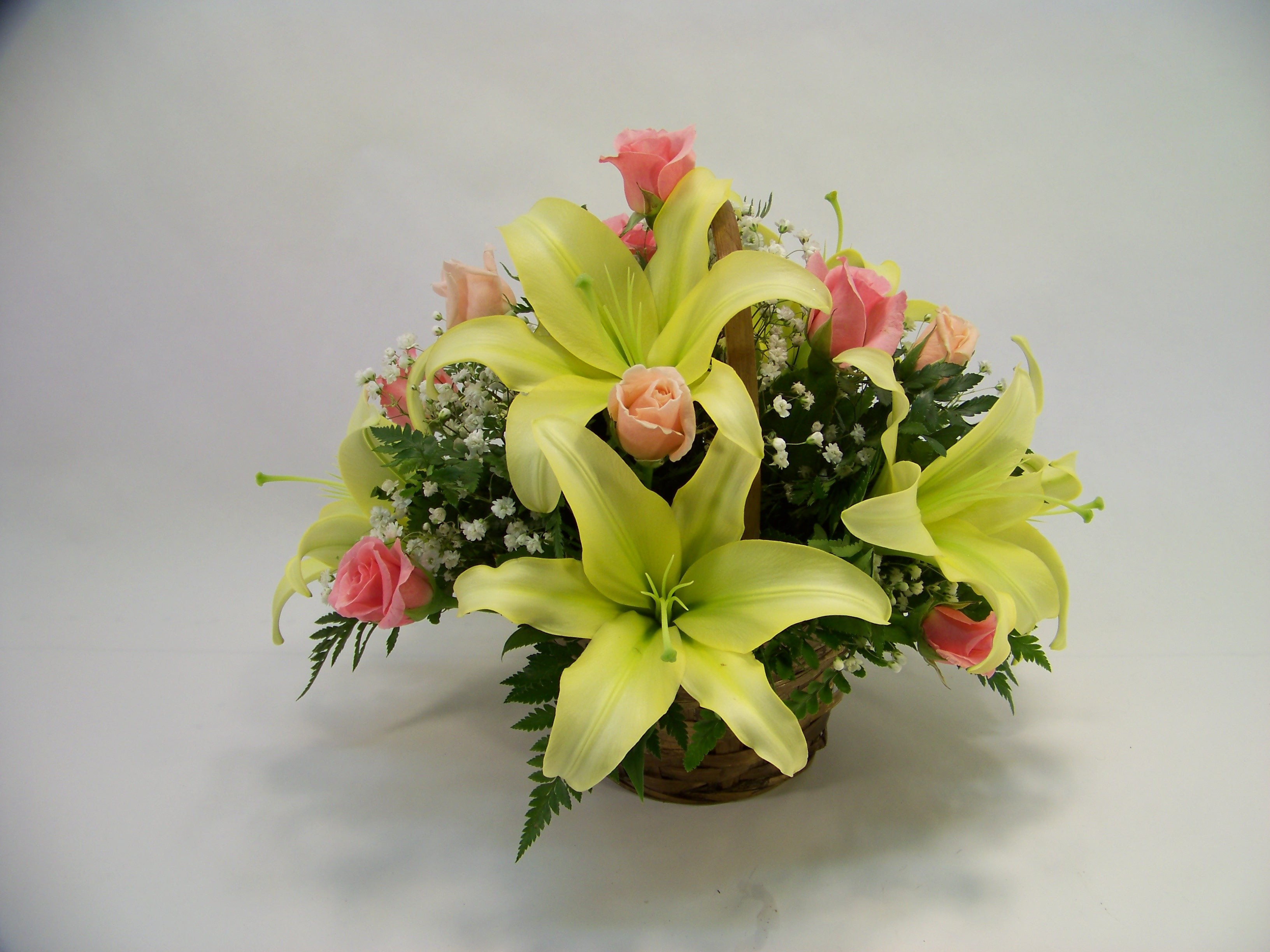 The Charming Lily and Rose Basket