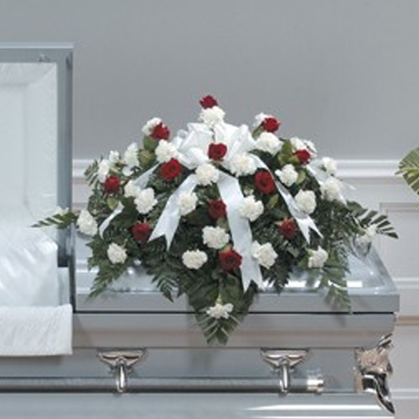 With Respect Casket Spray
