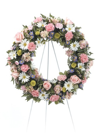 Peaceful Forever Wreath Easel