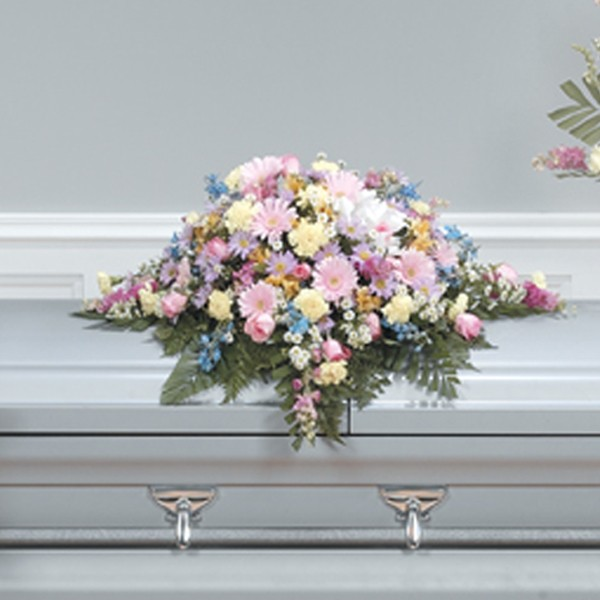 Blossoms Of Blessings Casket Spray