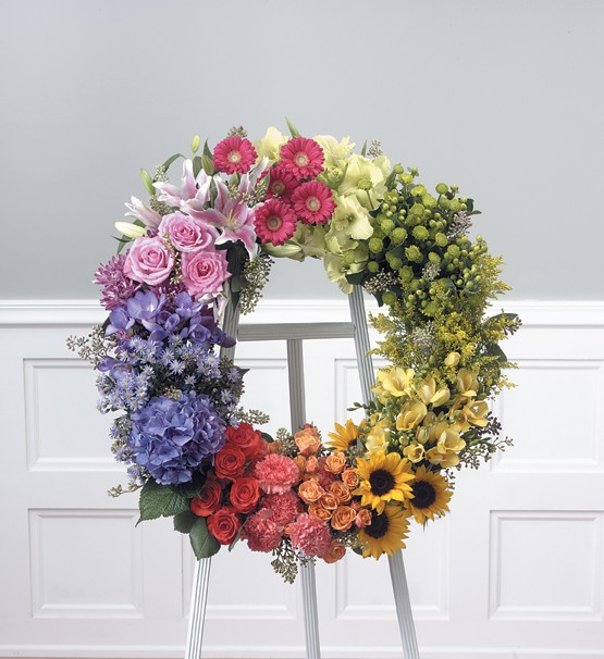 Forever Friends Wreath Easel Spray