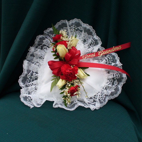 Red And White Heart Pillow