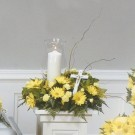 Candle Pedestal Arrangement
