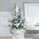 Heavenly Blue Pedestal Spray
