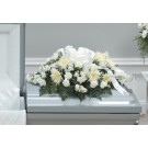 White Rose and Fuji Mum Casket Spray