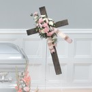Loving Hearts Standing Cross Spray