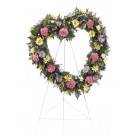 Sincere Memories Heart Wreath Easel