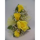 Four Rose Corsage in Yellow